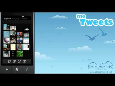 moTweets for Windows Phone 7 - Populating the Image Wall - Panoramic Software Inc.