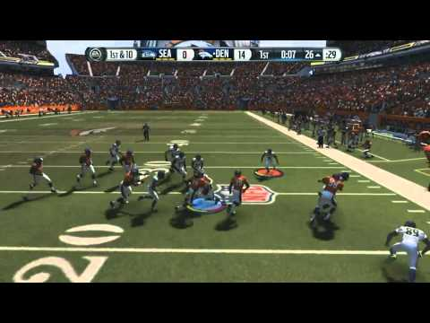 Football-NFL-Madden 15 :: No Bullet Passes :: Broncs Vs. Seahawks Online Gameplay XboxOne