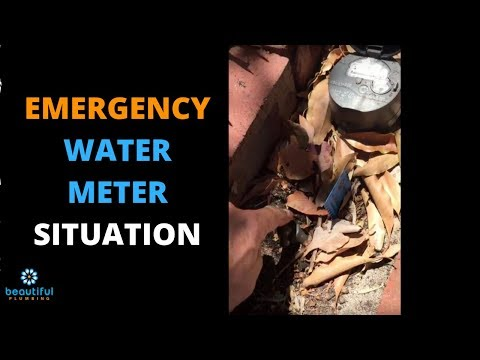 Emergency Water Meter Situation. You See What Happened