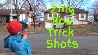 Amazing Zing Bow Trick Shots!! Better Than Dude Perfect (lol)| Nick Tv!