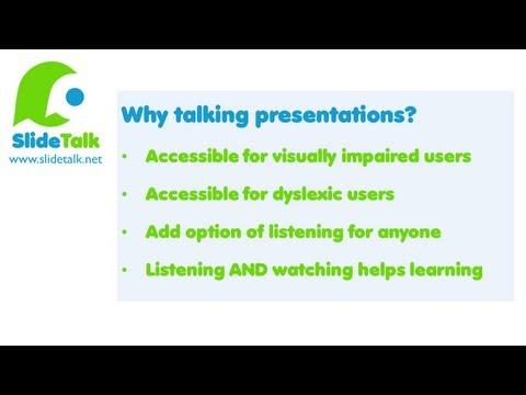 Converting slideshare presentation into accessible talking presentations