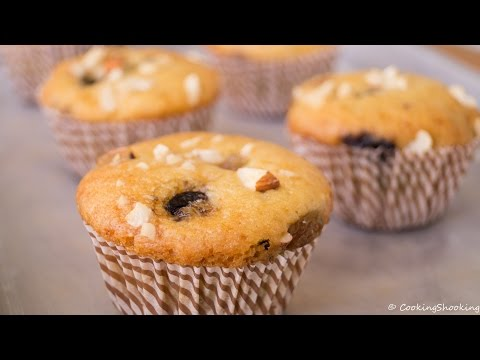 Pressure Cooker Dry Fruits Muffins Recipe | Eggless Baking without Oven