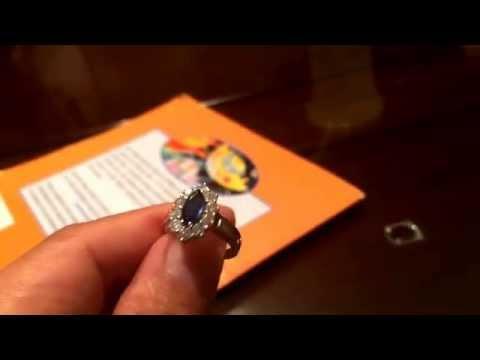 Discolored  diamond ring