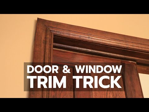 DOOR & WINDOW TRIM TRICK: See How to Solve That Old Drywall Problem