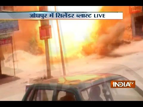 Caught on Camera: LPG Cylinder Blast in Jodhpur