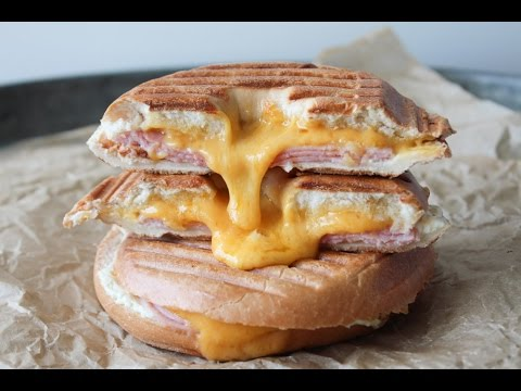 How To Make Panini Inspired Ham And Cheese Bagels - By One Kitchen Episode 674