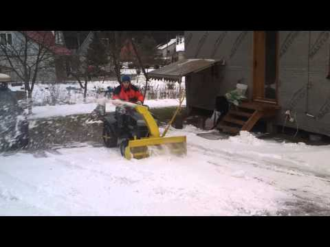 homemade single stage snowblower first test