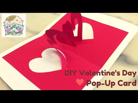 SUPER EASY Pop-Up Valentine's Card ハートポップアップカード ❤ 心形彈出卡 DIY