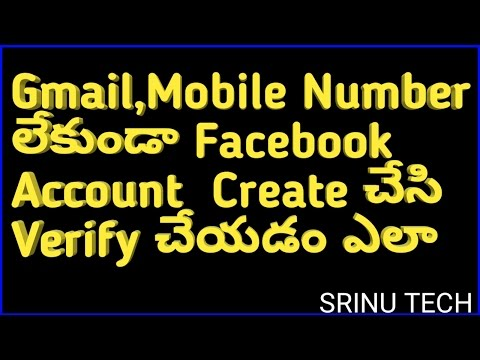 How to create || facebook account || without phone number || In Mobile || In Telugu