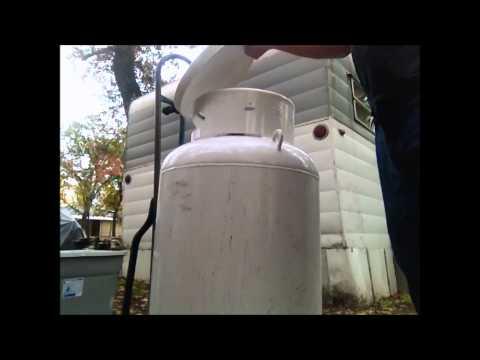 Filling the large Propane Tank