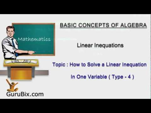 How to Solve a Linear Inequation in One Variable (Type-4) | Linear Inequations | Math Lessons