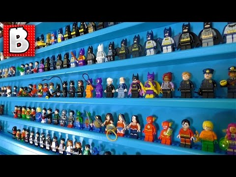 LEGO Marvel & DC Minifig Collection in a Massive Minifigure Display Case!!!