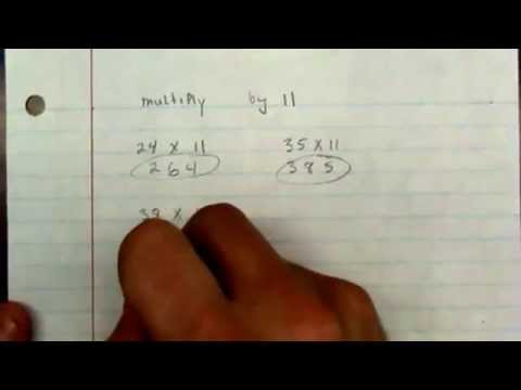 Multiply by 11 shortcut