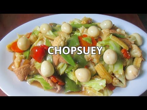 Chopsuey Recipe with Quail Eggs