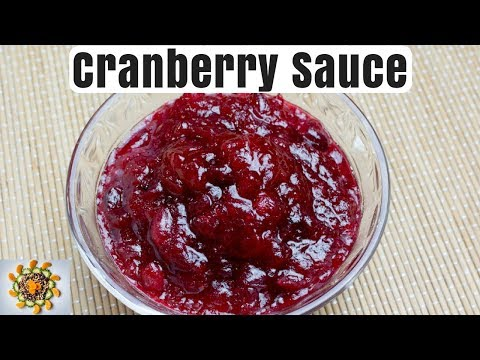 Homemade Cranberry sauce | Cranberry Sauce | Thanksgiving Cranberry Sauce | Sweet Cranberry Sauce