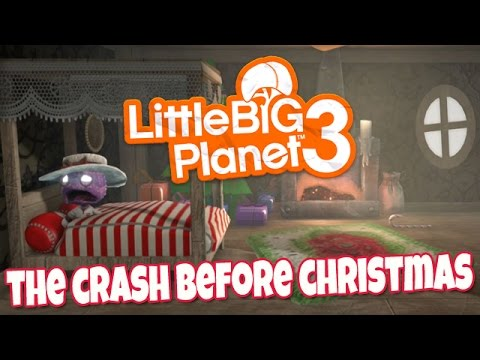 The Crash Before Christmas [Community Levels] Little BIG Planet 3 (PS4 Father & Son Gameplay)