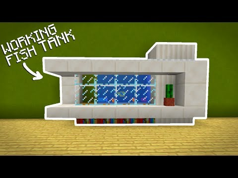 How to Make a Working Fish Tank - Minecraft Pocket Edition 1.1.3
