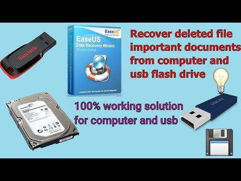 How to recover deleted files from computer and Usb flash drive || recover deleted documemt by easeus