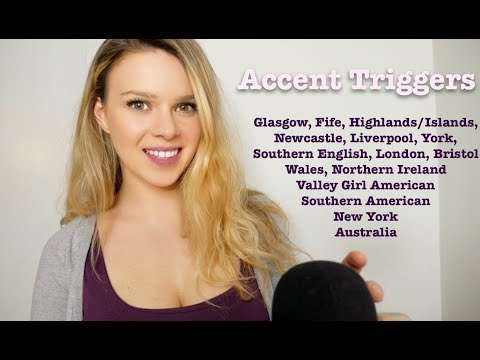 ASMR THE ACCENT TRIGGER ~ 16 Accents to Make You Tingle