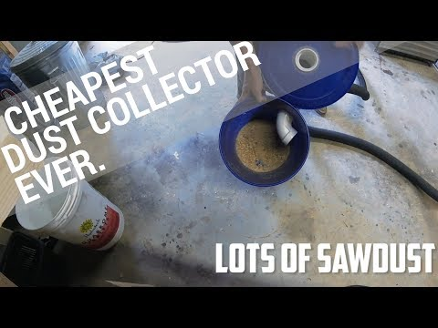 Easiest & Cheapest Dust Collector EVER