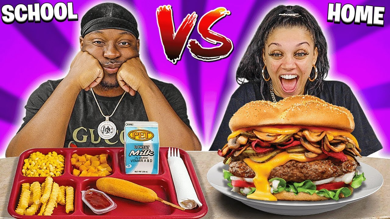 SCHOOL VS HOME FOOD CHALLENGE