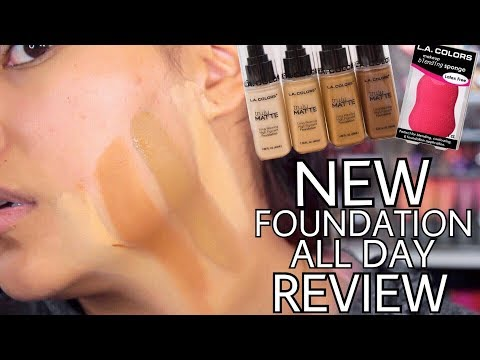 NEW L.A. COLORS TRULY MATTE LONG WEARING FOUNDATION ALL DAY REVIEW - Alexisjayda