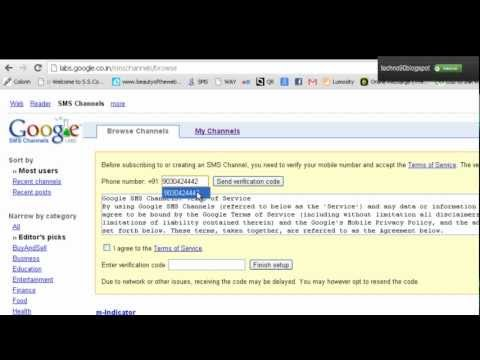 How to Subscribe - to - Google sms Channel - Rakesh Sayam