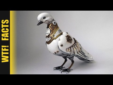 Russian Artist Creates Steampunk Animals From Old Car Parts, Watches & Electronics | LISTING #16