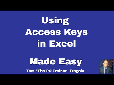 Using Access Keys in Excel - How to turn on keyboard shortcuts in Excel using Access keys 2016 2013