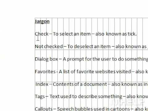 How to view gridlines in Word
