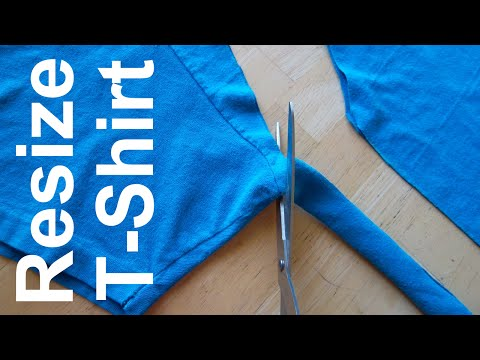 Sewing for beginners - resize a shirt - Sewing for beginners tutorial #1