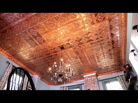 How To Install A Copper Stamped Metal Ceiling