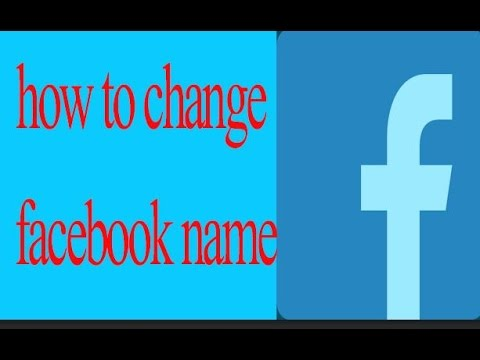 Change Facebook Name From Android mobile