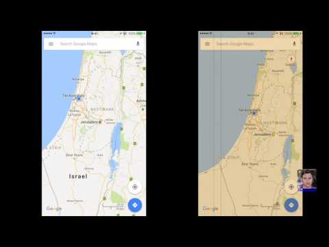 Israel is back on Google Maps for iPhone