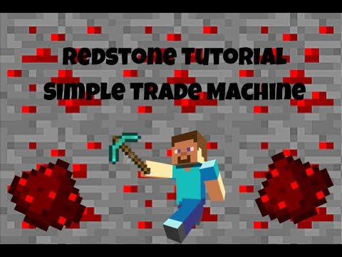 Minecraft: SIMPLE TRADE MACHINE | ALL PLATFORMS | Redstone Tutorial #3