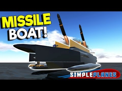 MASSIVE MISSILE BOAT BATTLE & JETPACK! - Simple Planes Creations Gameplay - EP 22