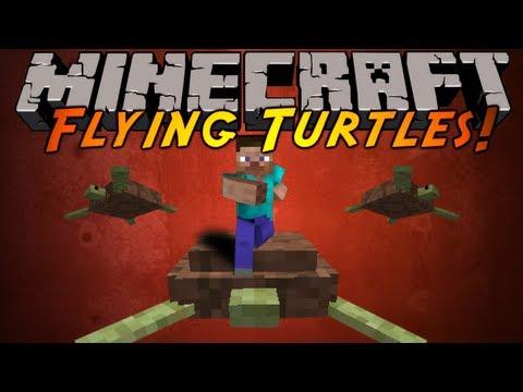 Minecraft Mod Showcase : FLYING TURTLES!