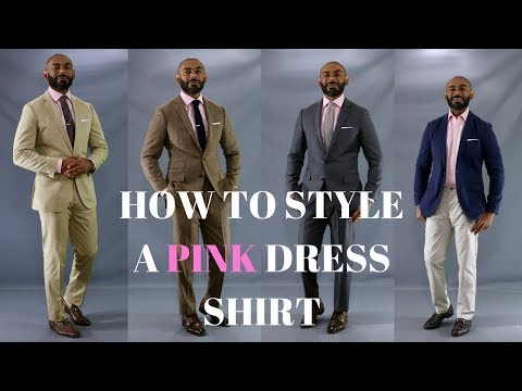 How To Wear A Pink Dress Shirt/How To Style A Pink Dress Shirt