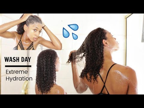 Hydrated Wash Day Routine on Natural Hair ( Start to Finish)