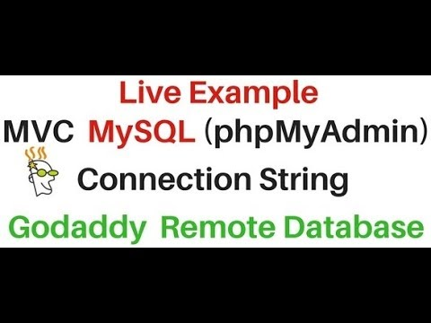 mvc mysql (phpMyAdmin) database Remote connection string asp.net