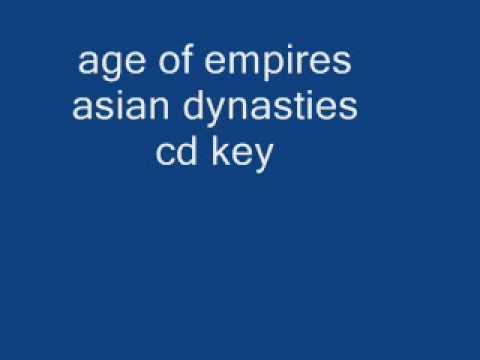 age of empires asian dynasties cd key