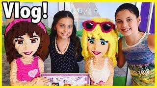 Dreamworld theme park fun & Lego store Crafty Kids Vlog 1 - Lego friends and amusement park rides