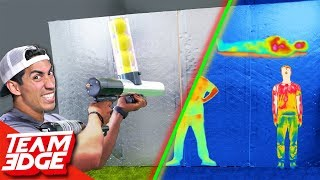 Shoot the Person Behind the Wall! | Heat Vision Camera Edition!!