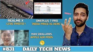 Realme X Live Photo,Man Swallows Airpod,Samsung M40 SD 675,Oneplus 7 Pro India Price #831