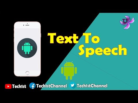 Android Text To Speech Voice