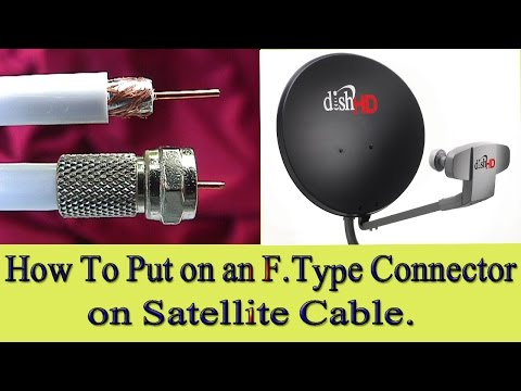 How to Connect an F Connector to a Satellite Cable
