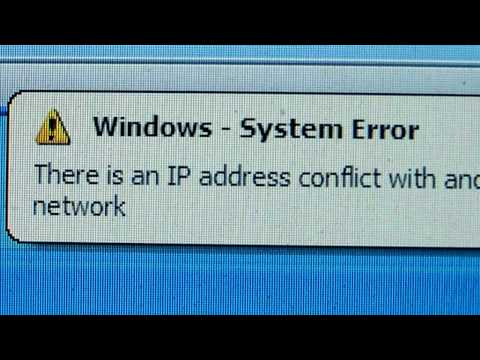 There is an IP address conflict with another system on the network.