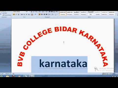 how to write arc shape circular curve text in ms word or photoshop