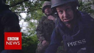 BBC team shot at on Ukraine front line - BBC News