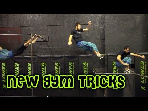 NEW GYM TRICKS - Parkour Gym Training